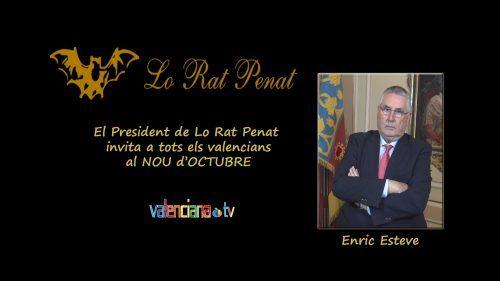 Enric Esteve vuelve a Lo Rat Penat. Dimite como concejal por el PP.