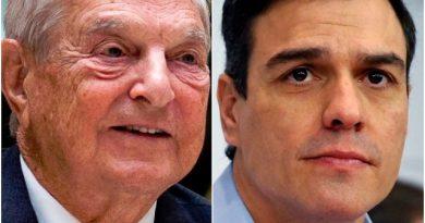 """La posible conecxion de Soros y Pedro Sanchez """"LA PESTE ROJA DEL 8M"""