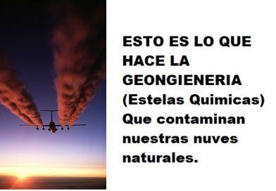 Esto es lo que hace la geoingeniería(estelas químicas) con nuestras nubes naturales.